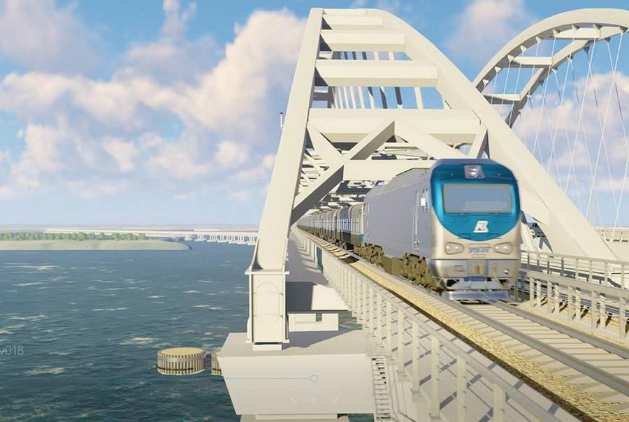 Опубликовано видео укладки рельсов на «несуществующий» Крымский мост
