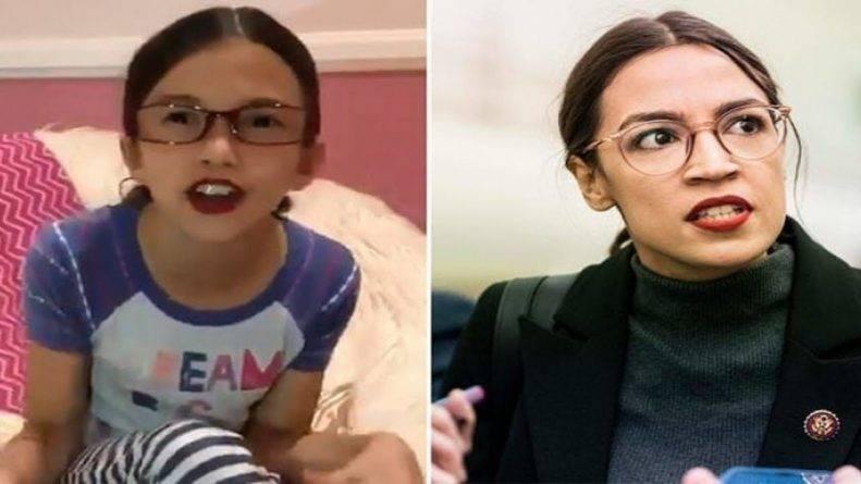 Пародия на Александрию Окасио-Кортес сделала знаменитой 8-летнюю девочку