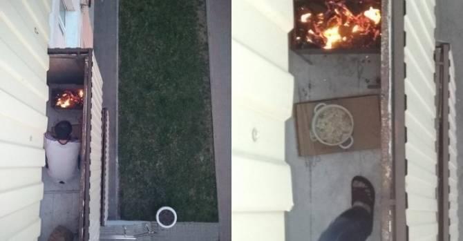 Житель Витебска жарил на балконе шашлыки. В МЧС объяснили, можно ли так делать