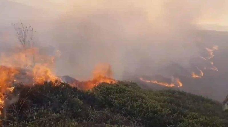 Пожарные сражаются с 2 ужасными пожарами в Илкли Мур, охватившими 50 акров земли