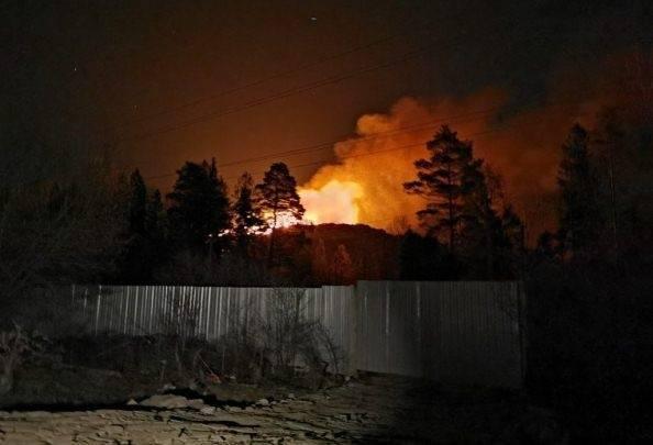 Спасатели ликвидировали горение на полигоне «Сабурово» в Щёлкове