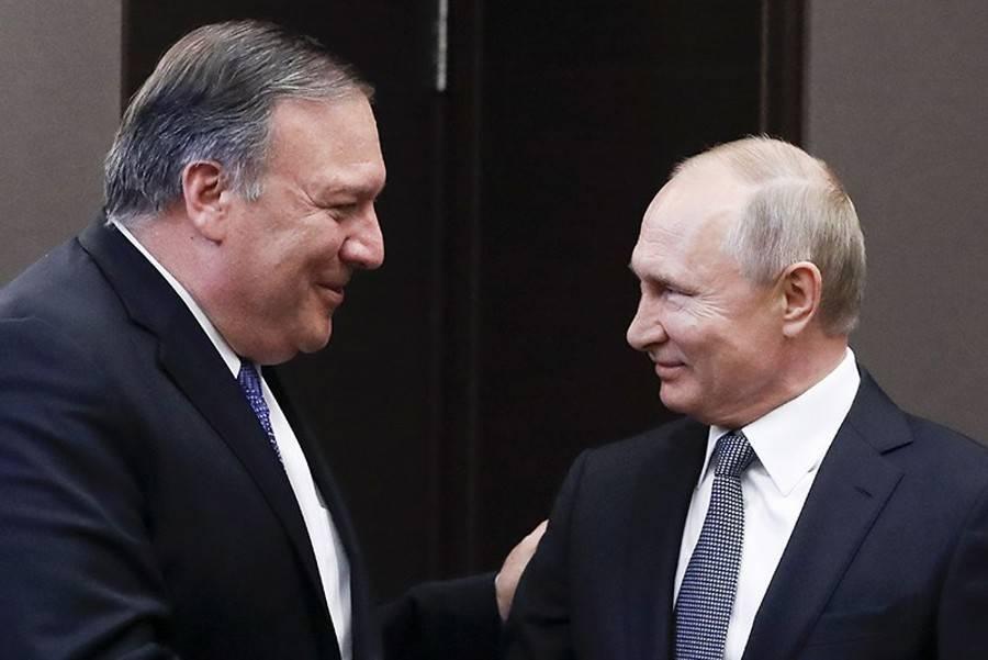 Помпео назвал переговоры с Путиным очень успешными