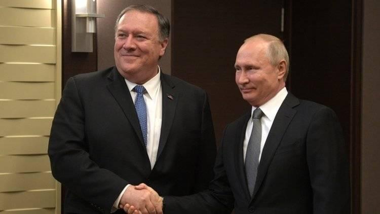 Помпео  отметил успешность переговоров с Путиным