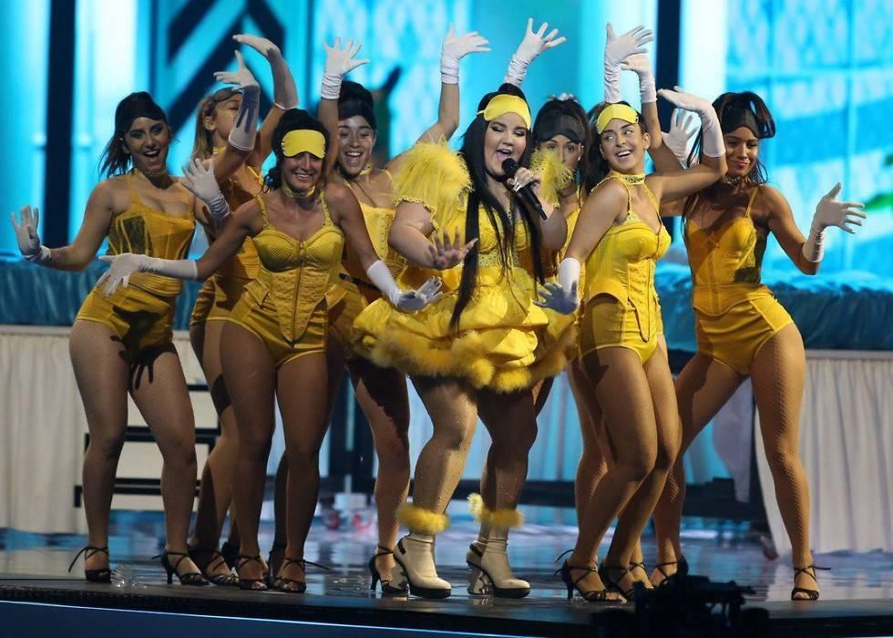 Главный сюрприз финала Евровидения: Нета и самолет - видео с репетиции