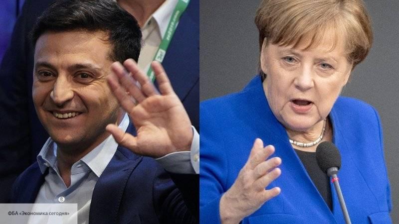 Меркель и Зеленский подчеркнули необходимость выполнения Минских соглашений