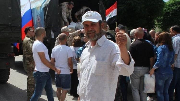 Российские военные раздали жителям Хамы и Дейр-эз-Зора 1000 продовольственных наборов