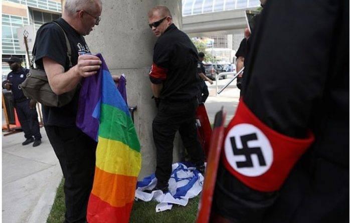 Во время прайд-парада в Детройте ультраправые уничтожали ЛГБТИК-символику и помочились на флаг Израиля