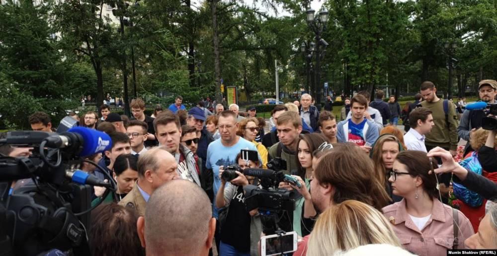 В Москве началась акция за допуск независимых кандидатов к выборам: фото и иллюстрации