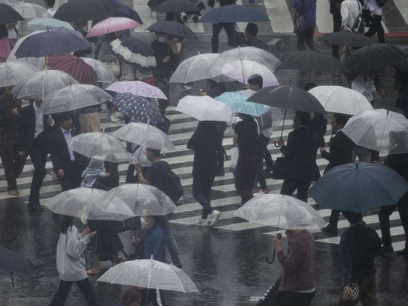 Наивысший уровень опасности объявлен в Японии из-за ливней: фото и иллюстрации