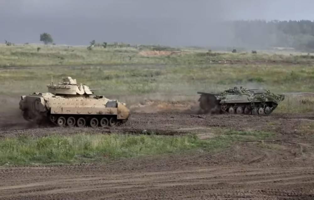 """Учения в Польше - кадры: В Польше показали зрелищный бой танков M1 Abrams и """"Т-72М"""" – кадры: фото и иллюстрации"""