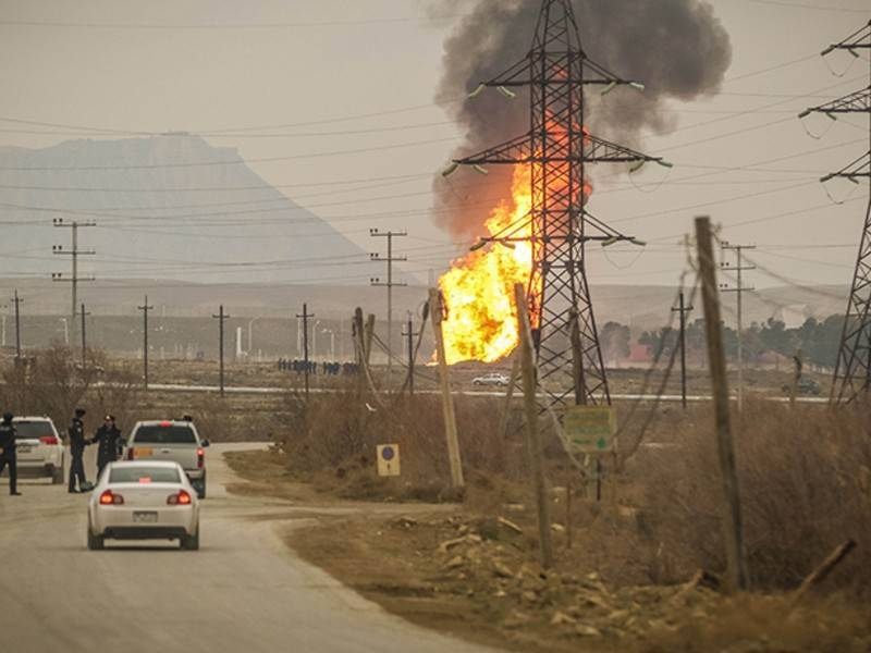 Пожар случился на газопроводе в Узбекистане: фото и иллюстрации