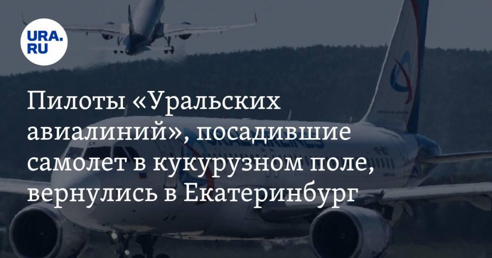 Пилоты «Уральских авиалиний», посадившие самолет в кукурузном поле, вернулись в Екатеринбург — URA.RU: фото и иллюстрации