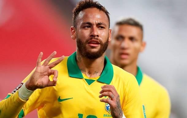 Неймар вышел на второе место в списке лучших бомбардиров сборной Бразилии
