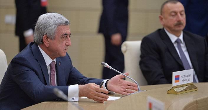 """""""Все были потрясены"""": Серж Саргсян рассказал о переговорах по Карабаху в Казани"""