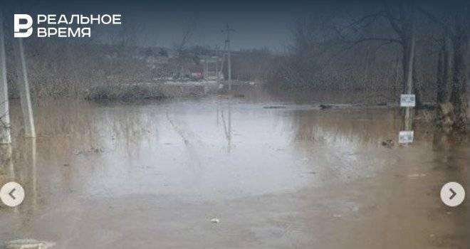 В Арском районе затопило деревню и мост