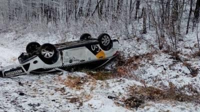 В Башкирии произошла авария из-за гололёда