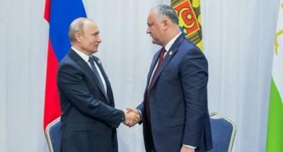 Молдавский народ оценит усилия Додона, уверен Путин