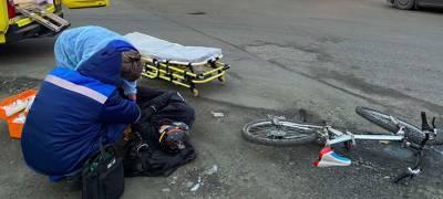 Подробности ДТП, в котором пострадал велосипедист, рассказали в ГИБДД Карелии