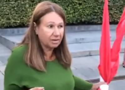 В киевском парке Славы конфликтовали националисты с общественницей Бережной