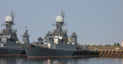Российский МПК протаранил сухогруз у берегов Дании