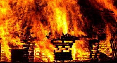 На пожаре в Мстиславском районе сгорел пенсионер