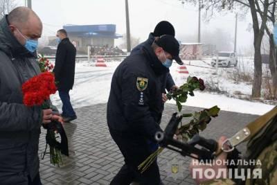 Полиция почтила память жертв теракта под Волновахой