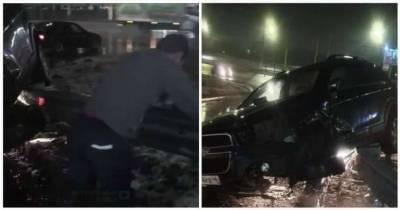«Зачем я пил и садился за руль?» Истерика пьяного водителя после ДТП попала на видео (3 фото + 1 видео)