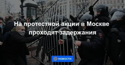 На протестной акции в Москве проходят задержания