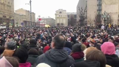 Названо число больных коронавирусом на незаконной акции в Москве