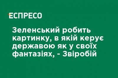 Зеленский делает картинку, в которой руководит государством как в своих фантазиях, - Звиробий