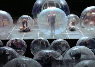 В США прошёл концерт со зрителями в защитных пузырях