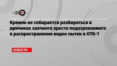 Кремль не собирается разбираться в причинах заочного ареста подозреваемого в распространении видео пыток в ОТБ-1