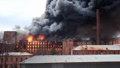 Два человека пострадали в результате пожара на «Невской мануфактуре» в Петербурге