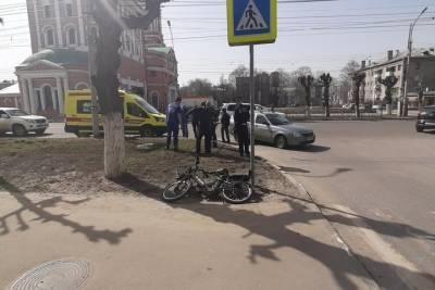 На улице Циолковского в Рязани «Приора» сбила велосипедиста