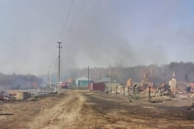 В Шацком районе загорелись 15 дач и хозпостроек из-за пала травы