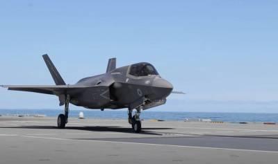 ВМС Британии: Истребители F-35 с борта авианосца в Средиземном море готовы в любой момент поддержать корабли британских ВМС в Чёрном море