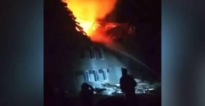 Адское пламя и руины вместо квартир: появилось видео с места взрыва под Нижним Новгородом