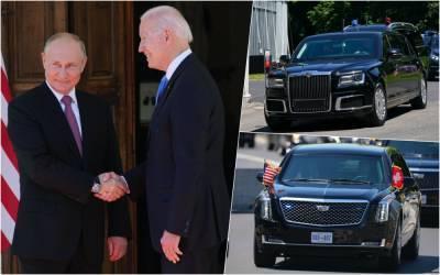 «Зверь» против Ауруса: сравнили лимузины Байдена и Путина