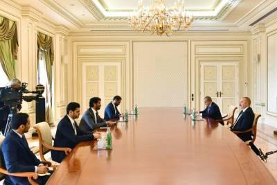 Президент Ильхам Алиев принял министра экономики ОАЭ