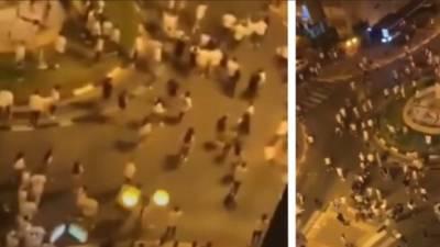 Видео: массовая драка стульями в Ход ха-Шароне