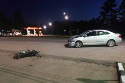 Водитель иномарки в Бурятии врезался в мопед
