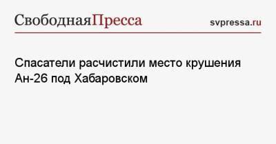Спасатели расчистили место крушения Ан-26 под Хабаровском